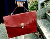 Two Way Bag Envelope Clutch - Dark Red