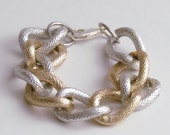 The Melissa Silver and Gold Chain Link Bracelet