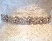 Vintage style bridal sash/wedding dress belt