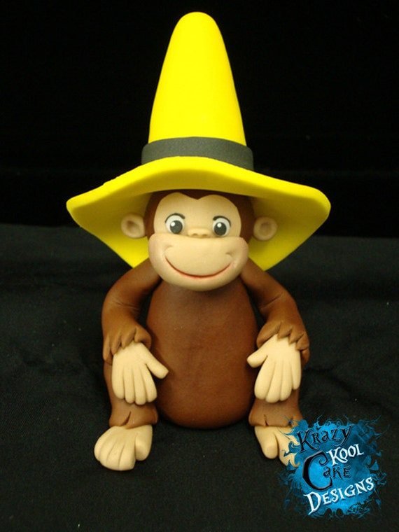 Curious George In Big Yellow Hat Cake Topper