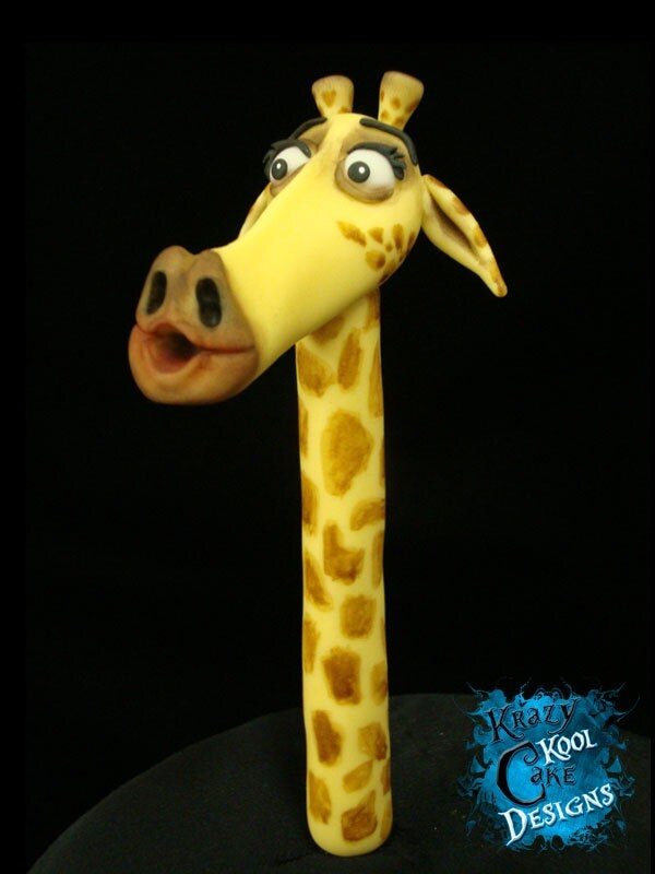 Melman the giraffe cake topper from madagascar - Girafe madagascar ...