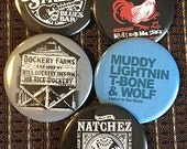 """Blues buttons - batch of 5 - 2.25"""" buttons from mojohand.com - high quality - batch 4"""