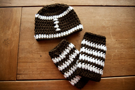 Newborn Footbll Beanie with Leg Warmers -Made to Order