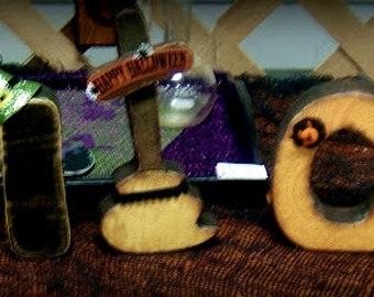 witch wooden letters