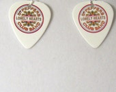 "The BEATLES - ""Sgt Peppers Lonely Hearts Club Band"" Guitar Pick Earrings / Lennon, McCartney, Harrison, Starr"