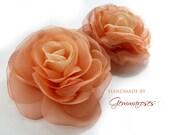 Peach Rose brooch