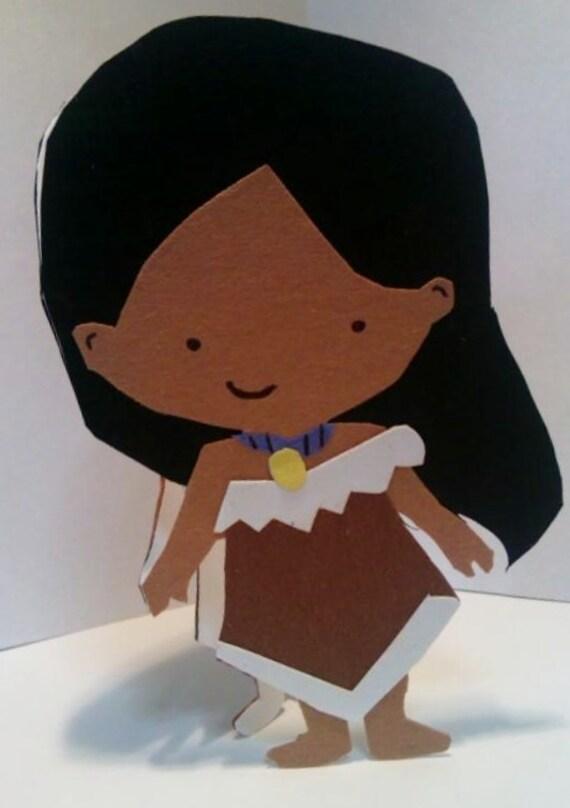 Handmade Pocahontas Card- Cardstock