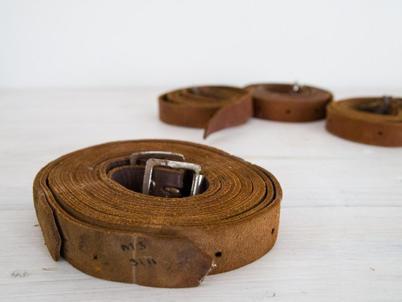 vintage brown leather belts, made in australia