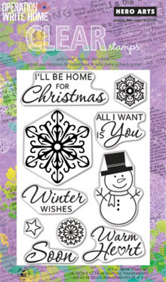 SALE Hero Arts Winter Wishes Operation Write Home