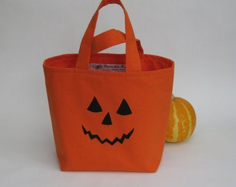 Halloween trick or treat bag jack-o-lantern - orange black