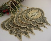 Christmas Bauble Tags (Set of 6) Vintage Appearance
