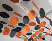 Paper Garland, Halloween Garland, Orange and Black Garland, Fall Garland, Halloween Banner, Halloween Party Decorations