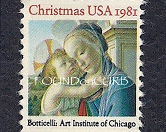 1988 Uncanceled Botticelli Christmas Stamps