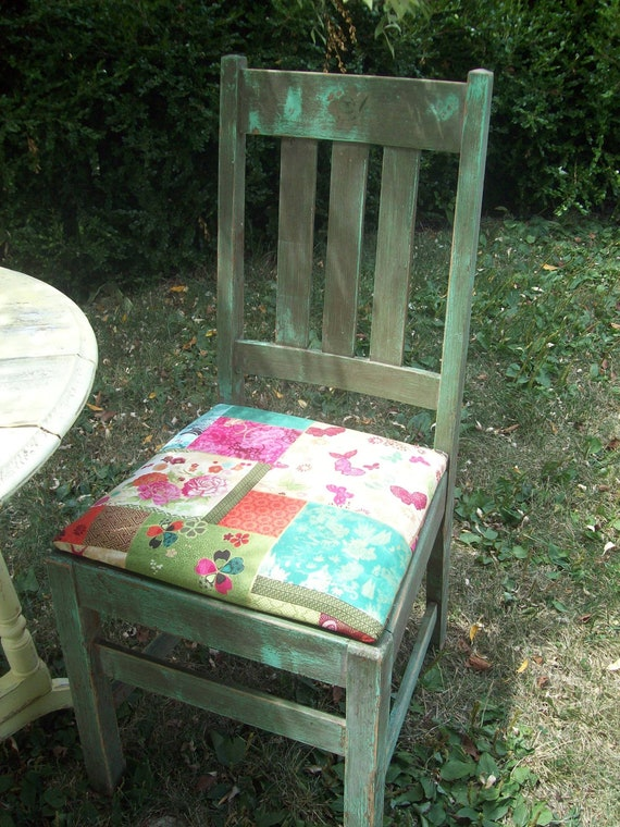 Patchwork rustic chair