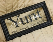 Custom Listing for Karen - Two Personalized Wedding Frames