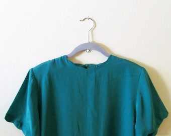 Scalloped Boxy Blouse S M 38 Bust