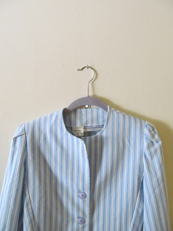 Striped Cropped Jacket S M 36 Bust