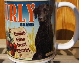Curly Coated Retriever Crate Label Coffee Mug