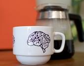 Purple Brains Upcycled Mug