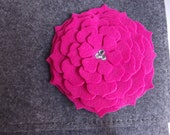 Gray Felt with Pink Flower I Pad or Tablet Case Clutch