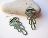 Vintage Style Copper Dangle Earrings