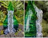 Glass vase -  Waterfall vase - Akaka Waterfall vase