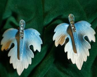 VTG 50's Leaf Clip On Earrings