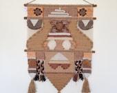 Vintage 70's weaving wall hanging
