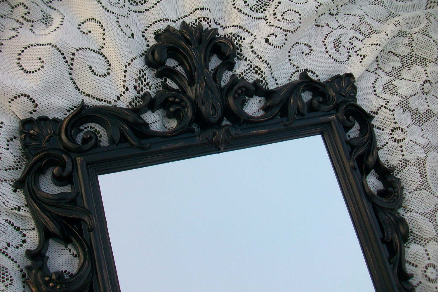 Small Black Decorative Mirrors: Large Vintage Mirror Black Mirror Ornate Mirror Gothic
