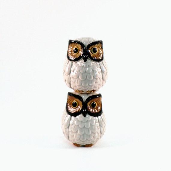 Otagiri Owl Shakers, Vintage 1960s Salt & Pepper Set
