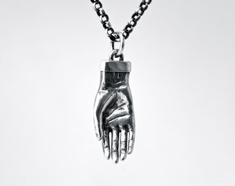 Open Palm Necklace in Sterling Silver--in appreciation of the human hand