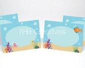 Under the Sea Place Cards - DIY Printable Digital File