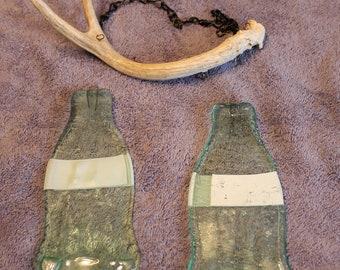 Melted glass bottle windchime
