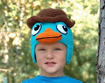 PDF Crochet Animal Hat Pattern  Character Hat (7323) Td creations