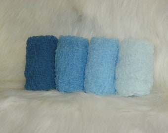 Photography Props...Hand Dyed Cheesecloth Wraps...Baby Photo Props...Blue Wraps