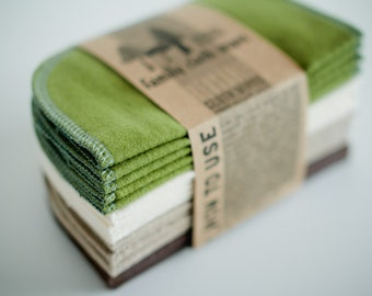 Build Your Own Custom Set of Reusable Baby Cloth Wipes -- Flannel Eco-friendly Wipes