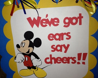 MIckey Mouse Birthday Door sign - Personalized with Classic Mickey Mouse