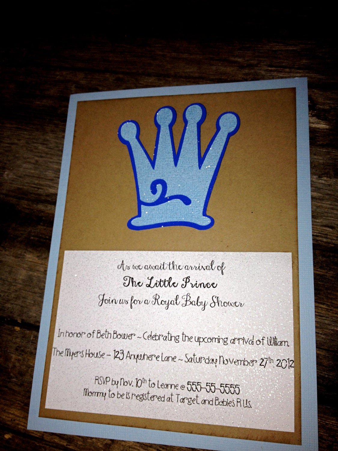 items similar to little prince baby shower invitations crown prince