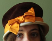 1920s style 1950s hat /  Evelyn Varon Exclusive / flapper hat