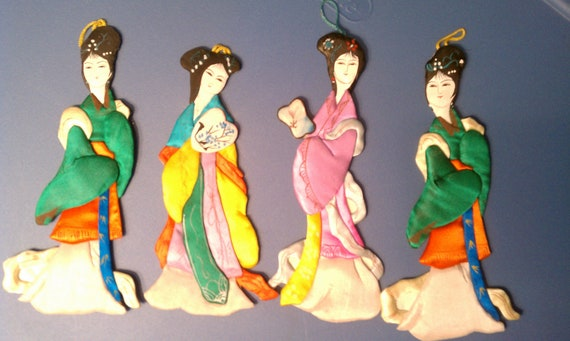Chinese hand painted dolls