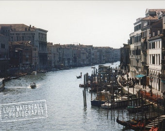 Afternoon Light On the Grand Canal, Venice Italy, International Travel, Architecture, Cityscape - 5x7 Photograph
