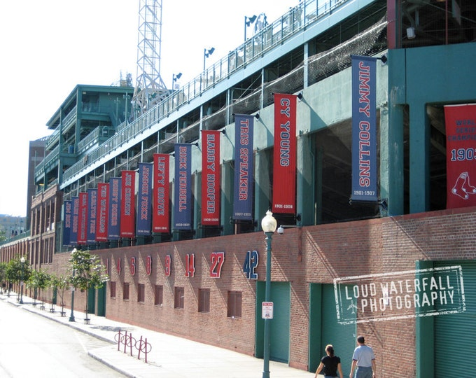100 Years, Fenway Banners, Yawkey Way, Boston Red Sox 5x8 Architecture Fine Art Photograph