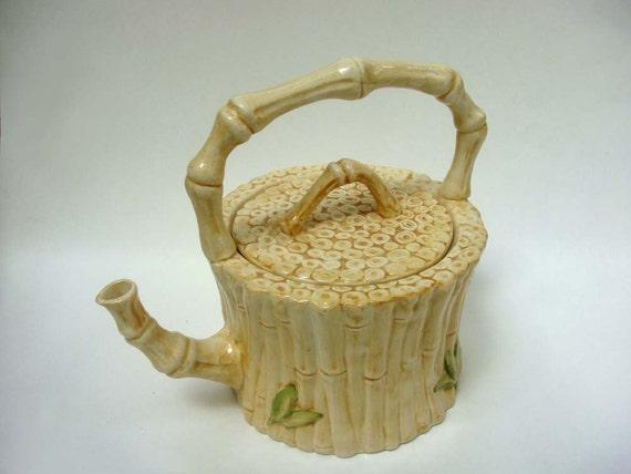 Vintage San Marco Bamboo Tea Pot - Made in Italy