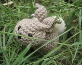 Hand Knitted Brown Bunny Rabbit