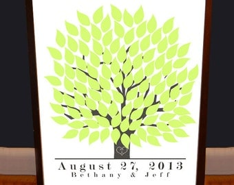Wedding Guest Book Tree - Guestbook Alternative - Personalized - Archival Quality Print