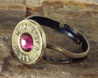 Bullet Ring - Winchester 38 SPL - Rose - Ammo Jewelry