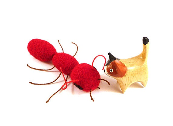 Red Fire Ant Wool Catnip Cat Toy