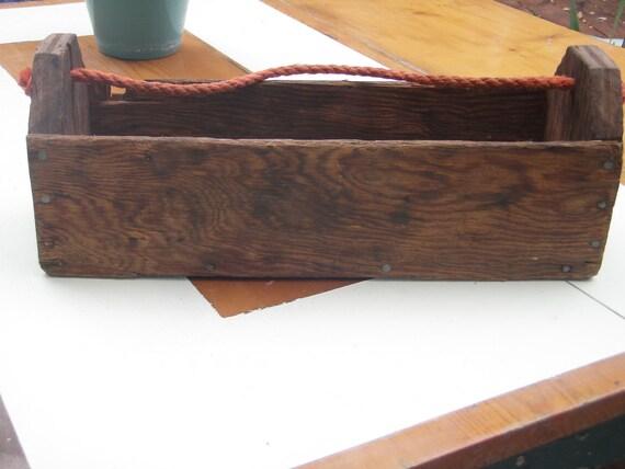 Rustic Barn Tool Box Caddy
