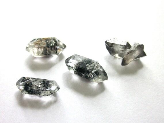 20% off SALE - Tibetan Double Terminated Herkimer Diamond Style Quartz Points - 4 Crystals (Lot No. 245)