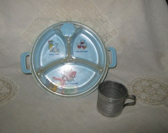 Baby Feeding Dish and Tin Baby Cup